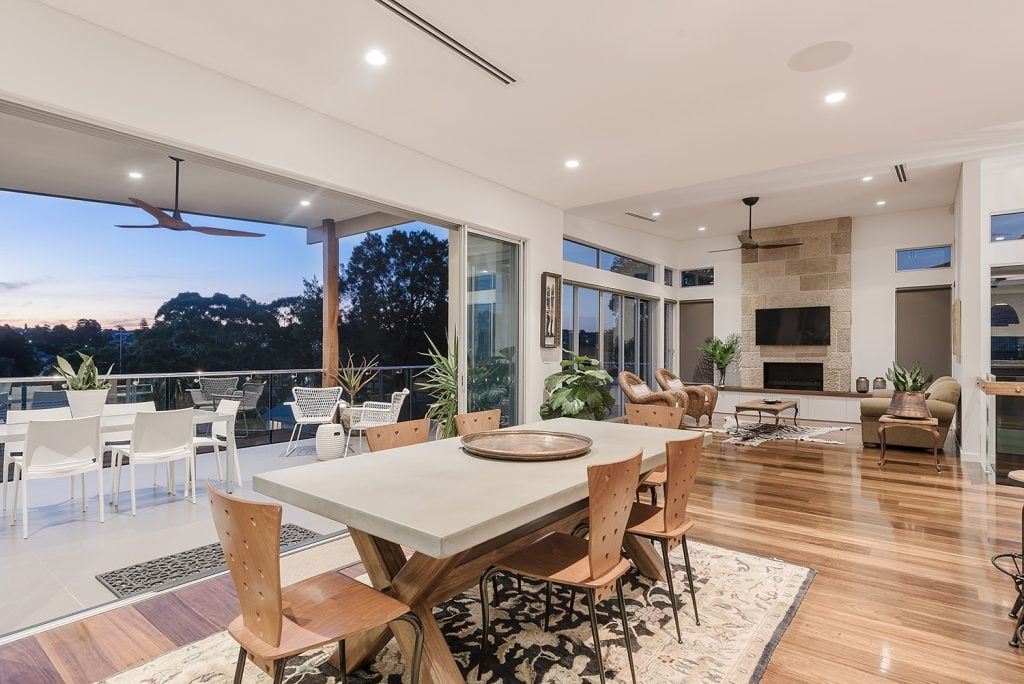 Dining room View from the Shani by Merit Homes